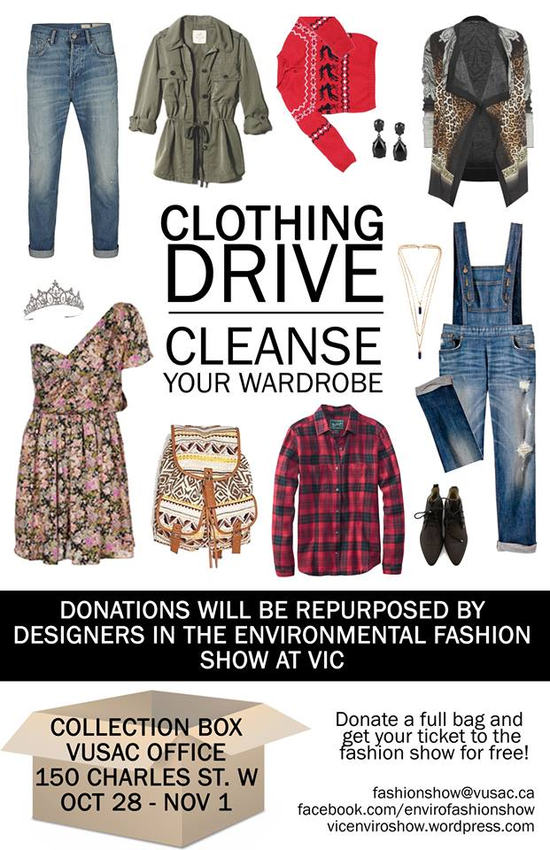 Clothing drive cleanse your wardrobe vic enviro show for Shirts that donate to charity